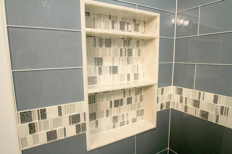Bathroom Remodel Glass Tile guest bathroom remodeling cape coral, fl distinctive contracting